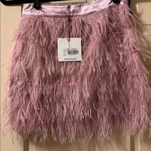 NWT Missguided feather skirt 0